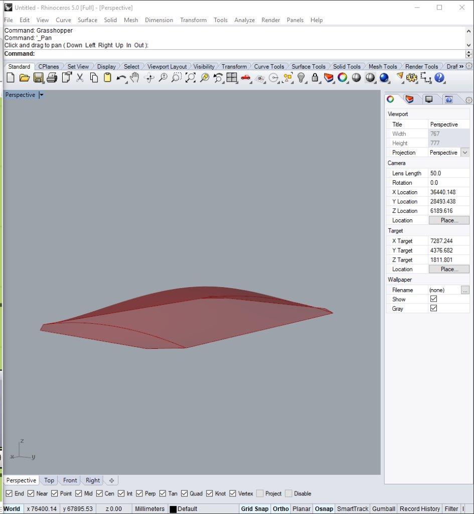 Oberfläche im 3D Raum